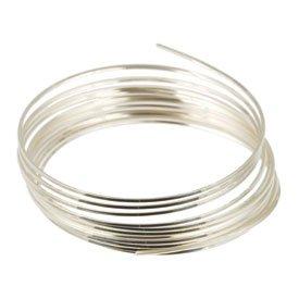 Draht, Sterling-Silber, halbrund, halbhart, quadratisch, 1.52 meters, 22 Gauge, Stück: 1