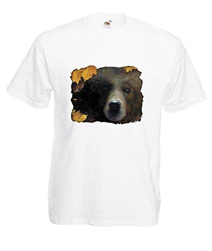 Einfach Tees Grizzly Bär Kinder T-Shirt Gr. 32 cm, (Grizzly Bär Kinder)