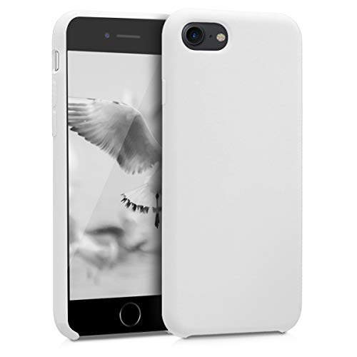Kwmobile apple iphone 7/8 cover - custodia per apple iphone 7/8 in silicone tpu - back case cellulare bianco