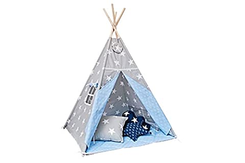 Teepee tent with floor mat and pillows - Sea Breeze