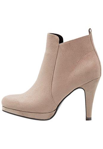 Anna Field Plateau Ankle Boots Damen - Stiefeletten mit Absatz Taupe, 40 (Bootie Heel Ankle)