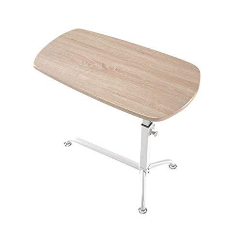 TYUIO Swivel Wheel Rolling Tray Table - Verstellbarer Nachttisch für Zuhause, Krankenhaus - Über Bett Laptop, Lesen, Essen Frühstück - Niedrig Hochkarre - Bedridden, Ältere, Senior Patient Aid -