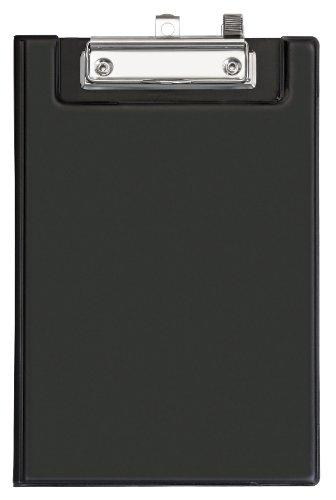 Veloflex 4805180 Clipboard mit Durchschreibschutz, DIN A5, mit Deckel, PVC, Klemmbrett, Schreibplatte, schwarz