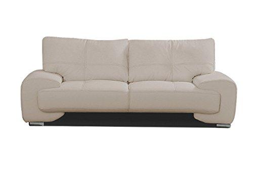 2-Sitzer Design Sofa 2er Büro Kunstleder Sofagarnitur Couch kleine FLORIDA LUX (Cappuccino)