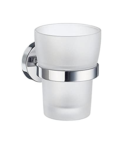 Home Holder with Glass Tumbler Finish: Polished Chrome