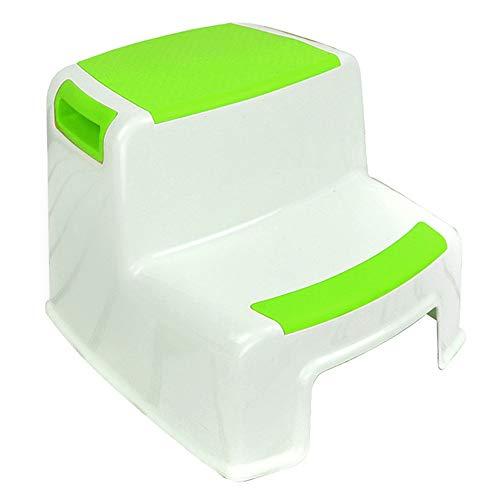 Kinder Badezimmer Booster Step Hocker Doppelhohe Stufenhocker für Kinder | Hocker des Kleinkindes für Töpfchen-Training und Gebrauch im Badezimmer oder in der Küche | Vielseitiges Zwei-Stufen-Design