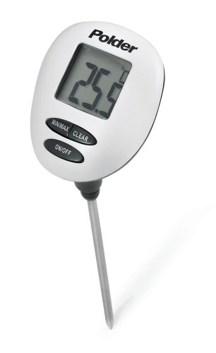 Geschwindigkeit Lesen, Digitale Thermometer (Polder Digitales Ofenthermometer, Geschwindigkeit: Lesen Thermometer, weiß)