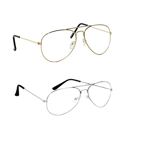 Amour-propre Golden Clear Aviator and Silver Retro Combo -AP15096