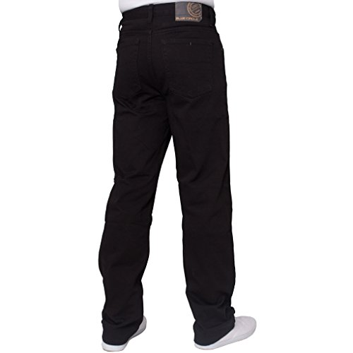 Herren Gerade Leg Einfach schwer Works Jeans Denim Hose alle Hüfte groß Größen erhältlich in 4 Farben Schwarz