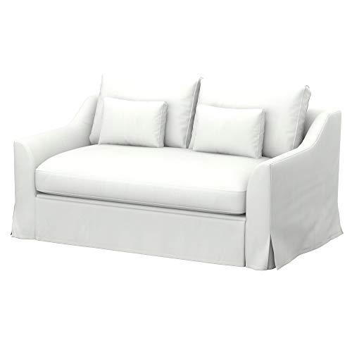 Soferia Fodera Extra Ikea FARLOV Divano Letto a 2 posti, Tessuto Elegance White