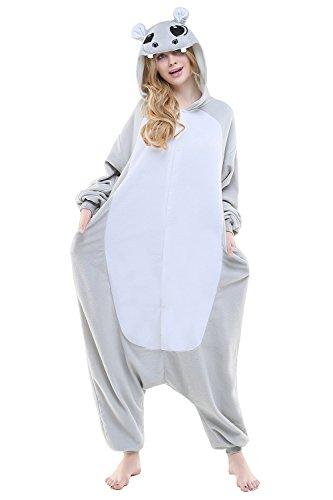Canasour Kostüm Weihnachten Verkleiden Cosplay Erwachsene Karneval Schlafanzug (M, Grey Hippo)