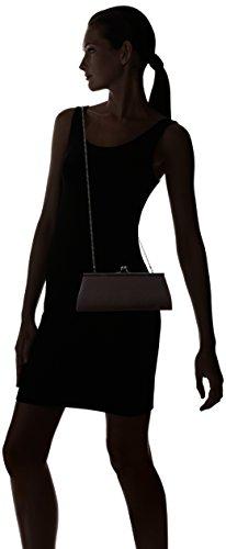 Berydale Borsa Donna In Raso, Tracolla Con Catena Aggiuntiva E Cinturino In Metallo Con Chiusura A Scatto Nero (nero)