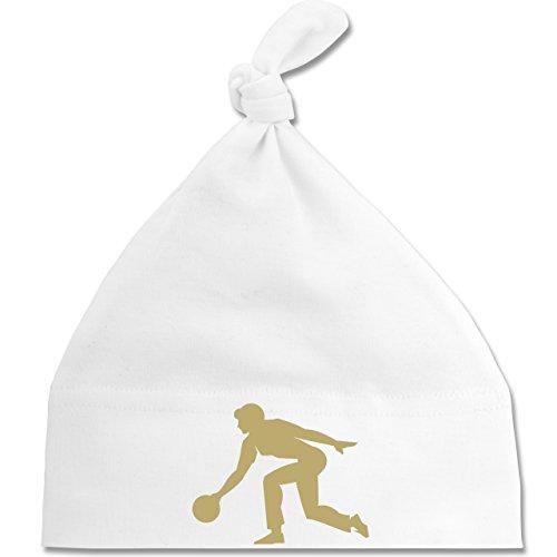 Sport Baby - Keglerin - Unisize - Weiß - BZ15 - Baby Mütze mit einfachem Knoten als Geschenkidee
