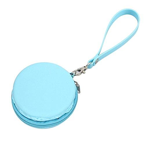 Tankerstreet Carino Mini Raccoglitore, Silicone Portamonete Ragazza Storage Bag per Spiccioli Vari Colori �?Rosa Blu