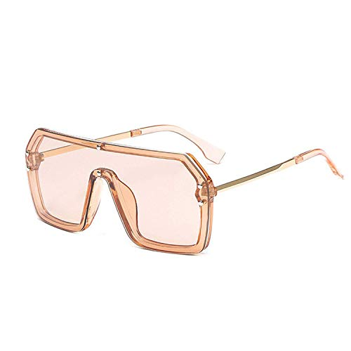 WERERT Sportbrille Sonnenbrillen Oversized Square Sunglasses Women Large Frame Luxury Designer Sun Glasses Men UV400