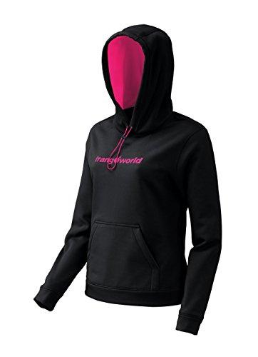 Trango Poppi Sweat-Shirt Femme Negro/Rosa Brillante