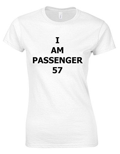Crown Designs I Am Passenger 57 Actionfilm Film Inspiriert Geschenk Für Männer Und Jugendliche T-Shirts Tops (Weiß/EU - 34-36) - Fluggesellschaften, Weißes T-shirt