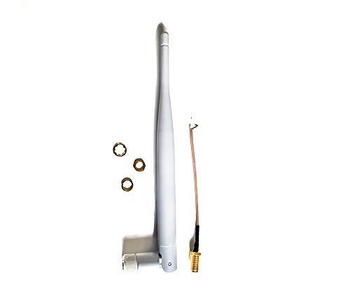 Technikkram 868 MHz Antenne SMA für CCU3 CCU2 Raspberry Pi CUL USB CC1101 GSM ELV Bausatz RaspberryMatic pivCCU Homematic Fibaro Pigtail Kabel (weiß Kipp- und Schwenkbar 5dBi)