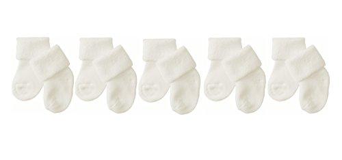 Need4Baby 5 x Babysocken Erstlingssocken Unisex Gr.15/17 (0-6 M) Weiß