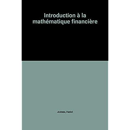 Introduction à la mathématique financière