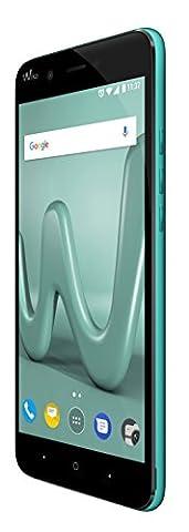 Wiko Harry Smartphone débloqué 4G (Ecran : 5 pouces - 128 Go - Double Micro-SIM - Android) Turquoise