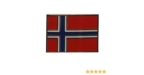 Yantec Flaggenpin Norwegen rechteckig Pin Anstecknadel Fahnenpin