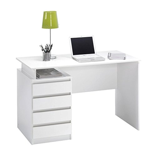 jysk-desk-mesinge-4-drawers-white