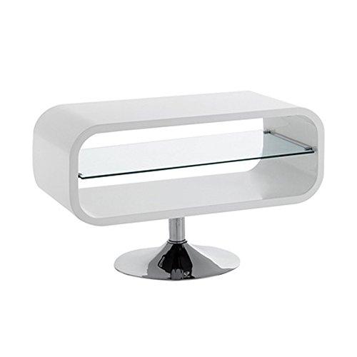 Tomasucci Vega Porta TV, Mdf, Bianco, 80 x 46 x 40 cm