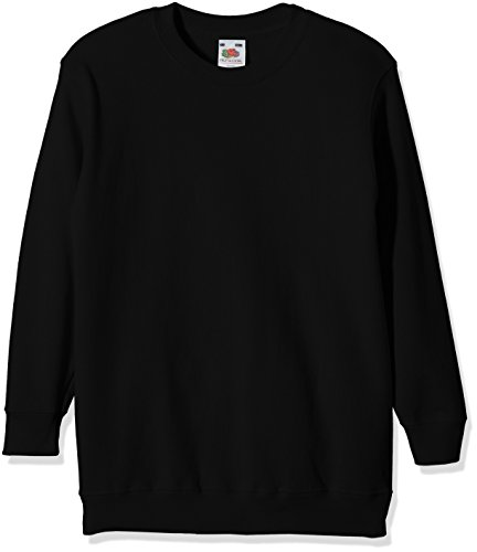 Fruit of the Loom, Sudadera Infantil, Negro (Schwarz - Schwarz), 5-6 Años