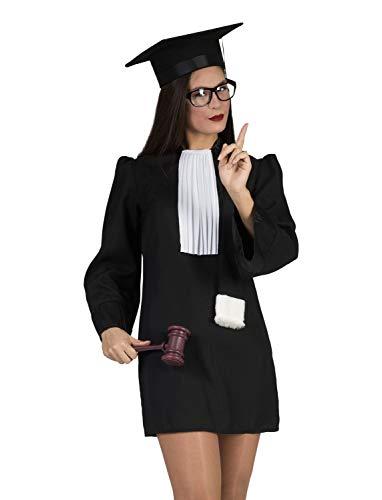 Funny Fashion Kostüm Richterin Justitia Tunika schwarz Jabot Richterkostüm Fasching (44/46)