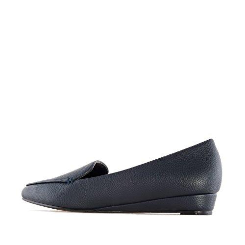 Andres Machado.AM5227.Slippers compensés en Soft.Pour femmes. Grandes pointures. 42/45 Bleu