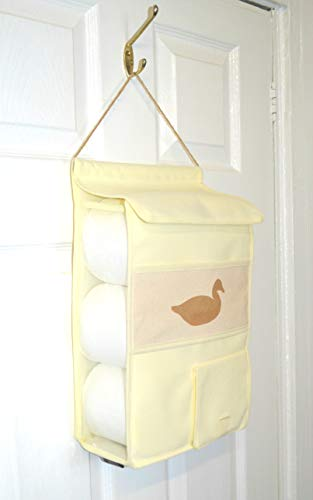 Rollie holdies Hanging portarrollos de papel higiénico portarrollos de papel dispensador de almacenamiento Mano STENCILED