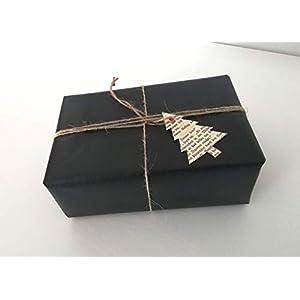 """10er-Set Geschenkanhänger""""Tanne"""" aus Buchseiten/Buch Upcycling/Geschenkverpackung/Etikett/Weihnachtsgeschenk"""