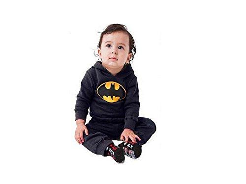 DS (GR. 62-86) STRAMPLER OVERALL BATMAN *SCHWARZ* BABY BODY ANZUG