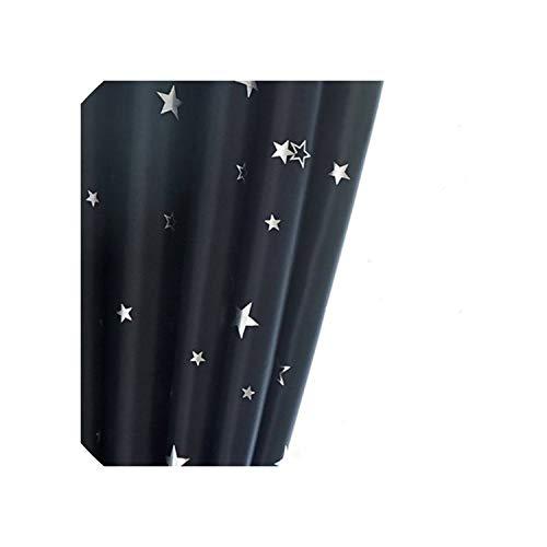 Glänzende Sterne-Kind-Tuch Gardinen für Kinder Jungen-Mädchen-Schlafzimmer Wohnzimmer Blau/Rosa Blackout Cortinas Drape, Farbe8 Tuch, 1pc W400CM X H260CM, Pull gefaltetes Band