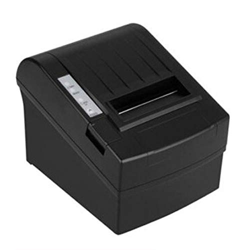 Black Thermal Power Supply (Tree-on-Life POS-8220 Kompakter kabelloser WiFi-POS-Thermobondrucker 80 mm Auto Cutter USB + WiFi Wasserdichter, ölbeständiger Thermodrucker)