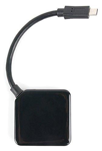 USB-Verteiler-Hub (USB 3.1 / Typ-C-Stecker) mit 3 USB-Ausgängen zum Datenübertragen / Synchronisieren + Aufladen. Für Asus Zenfone 4 ZE554KL | Google Nexus 5X + 6P | LG Q6 | Bluboo S8 Smartphone