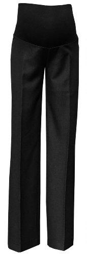 Zeta ville. donna pantalone prémaman elegante taglio classico piega stirata 246c (nero antracite, 46)