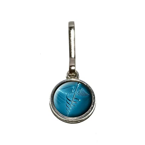 Heroldstab Medizinisches Symbol-Emt RN MD Antiken Charme Kleidung Geldbörse Gepäck