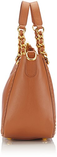 POON  Lederhand- / Schultertasche, Sac pour femme à porter à l'épaule Cognac