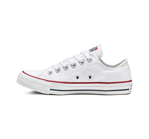 3 - Converse Chuck Taylor All Star Season Ox, Zapatillas de Tela Unisex Adulto, Blanco, 39.5 EU