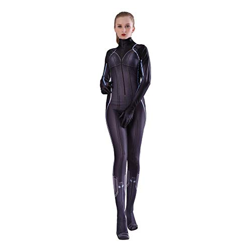 Avengers Black Kind Kostüm Widow - Kind Erwachsener Avengers Black Widow Cosplay Kostüm Superhelden Verkleidung Halloween Mottoparty Strumpfhosen 3D Druck Spandex Onesies,Child-M