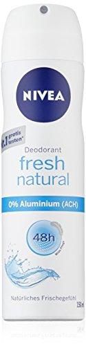 Nivea Deo Fresh Natural Spray, ohne Aluminium, Doppelpack, 1er Pack (2x 150 ml)