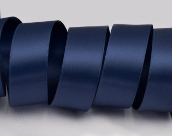 5/8 in. Wide Navy Blue Double-Faced Satin Ribbon - 100 Yard Spool by Sophie's Favors -