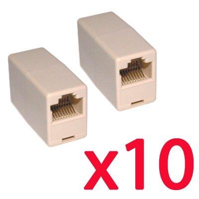 SODIAL(R) 10 X coupleurs RJ45 Cat5 pour