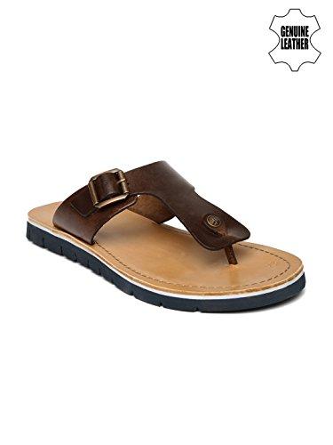 Clarks-Men-Brown-Genuine-Leather-Sandals