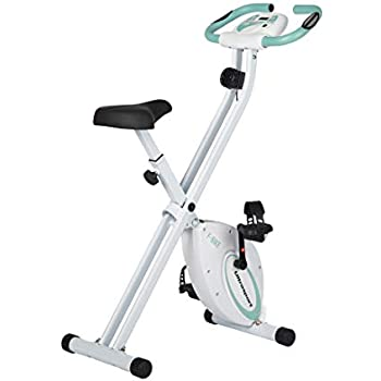 Ultrasport F-Bike Bicicleta estática de fitness, aparato doméstico, plegable con consola y