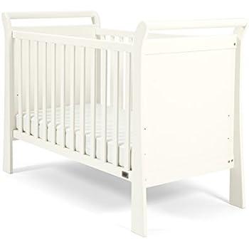 Mamas U0026 Papas Mia Sleigh Cot, Ivory, Nursery Furniture