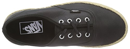Vans Authentic Espadrille, Baskets Basses Mixte Adulte Noir (Leather/Black)