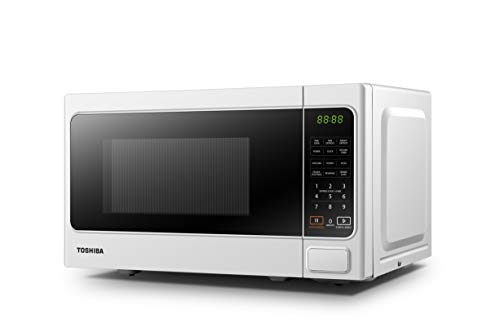 Toshiba Microwave Oven MM-EM20P(WH) 20L Digital 800W, 6 Preset Recipes, Procedural Memory, Auto Defrost, Solo Microwave Oven for Standard Size of Dinner Plate, Digital Display, Modern Finish - White